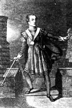 William Macready as Hamlet